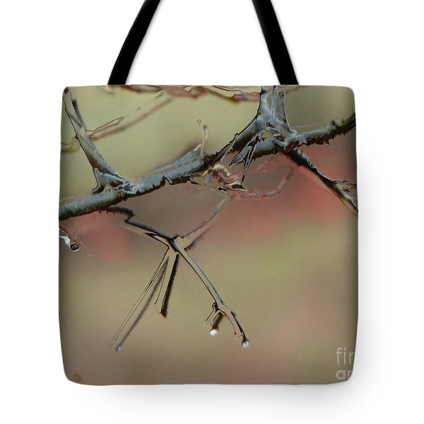 Branch With Water Abstract Tote Bag by Craig Walters