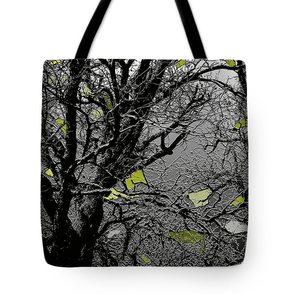 Branches In Green Tote Bag