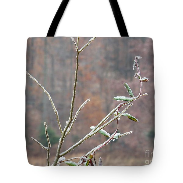 Branches In Ice Tote Bag