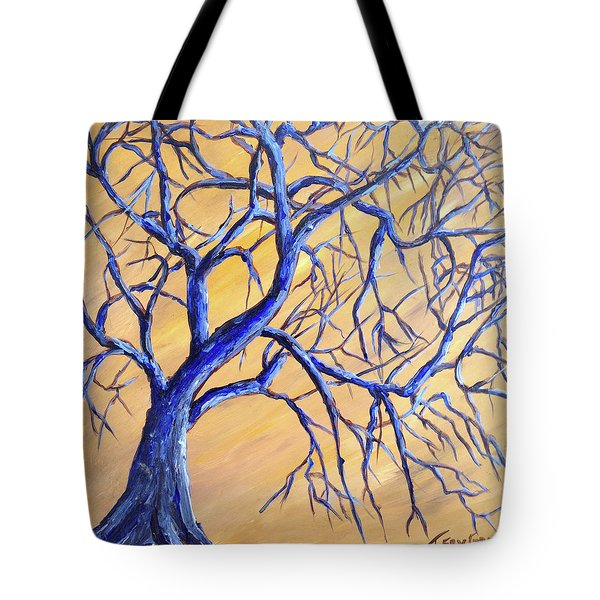 Branches Of Blue Tote Bag