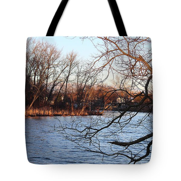 Branches Over Water Tote Bag