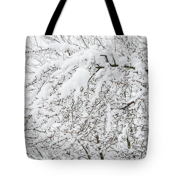 Branches Weighted With Snow Tote Bag