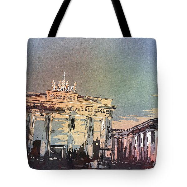 Brandenburg Gate At Sunset In The City O Tote Bag