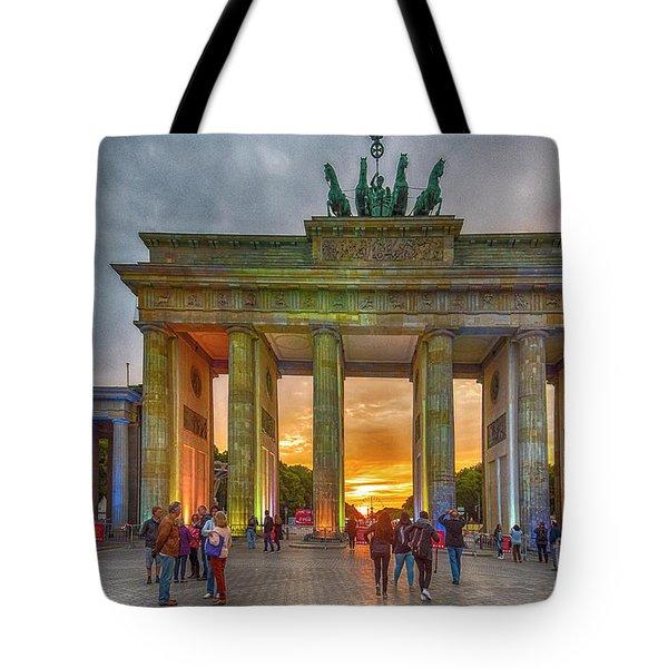 Brandenburg Gate Tote Bag by Pravine Chester