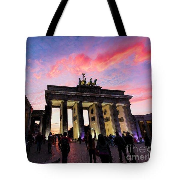 Branderburg Gate Tote Bag by Pravine Chester