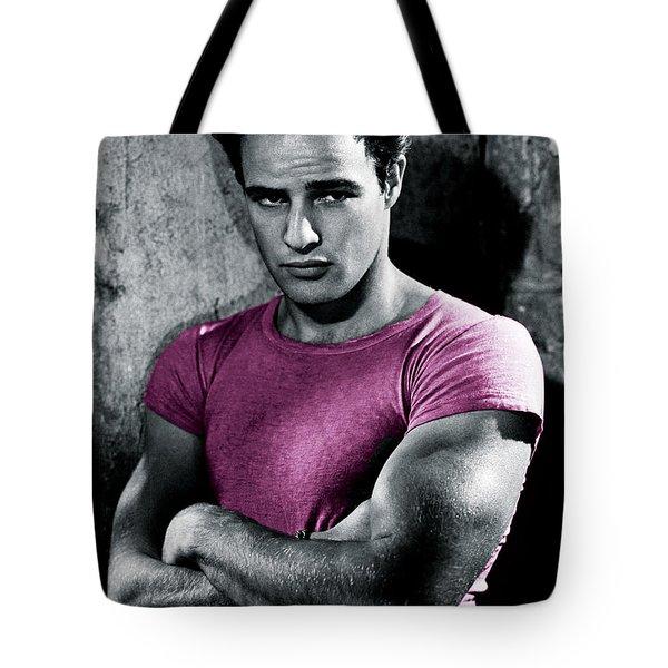 Brando In Pink Tote Bag