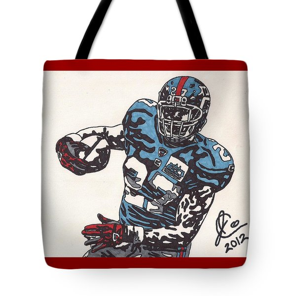 Brandon Jacobs 1 Tote Bag by Jeremiah Colley