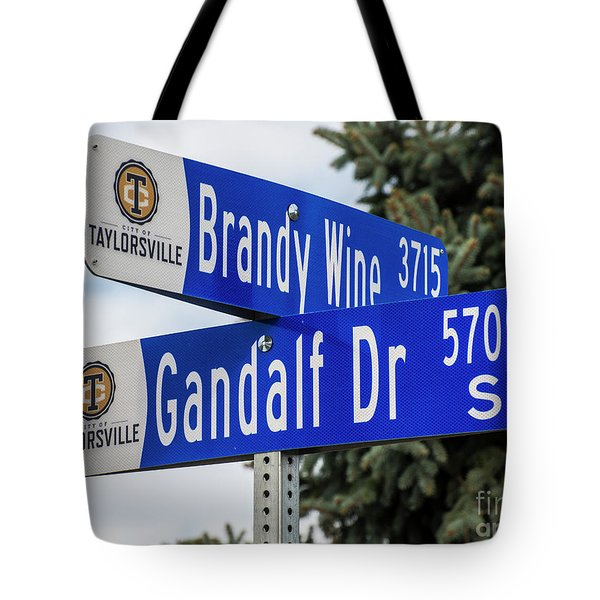 Brandywine And Gandalf Street Signs Tote Bag by Gary Whitton