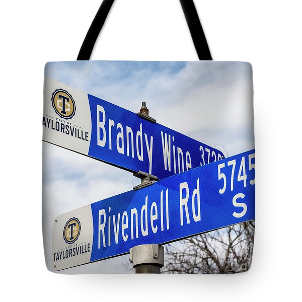 Brandywine And Rivendell Street Signs Tote Bag by Gary Whitton