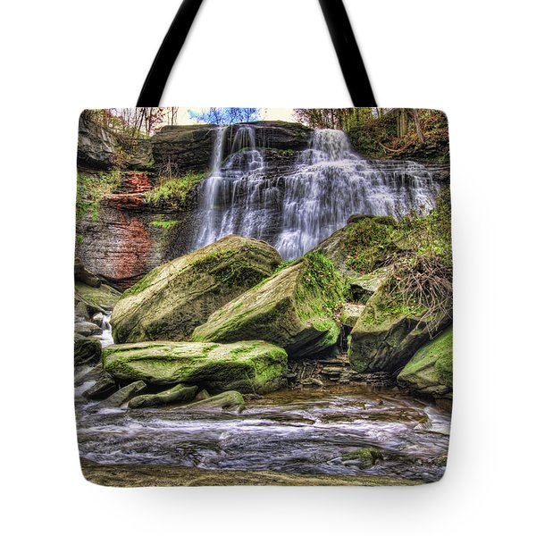 Tote Bag featuring the photograph Brandywine Falls by Brent Durken