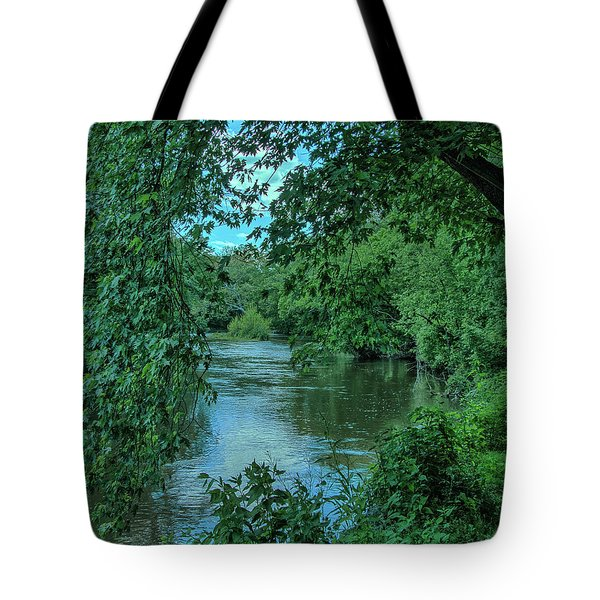 Tote Bag featuring the photograph Brandywine River by Richard Goldman