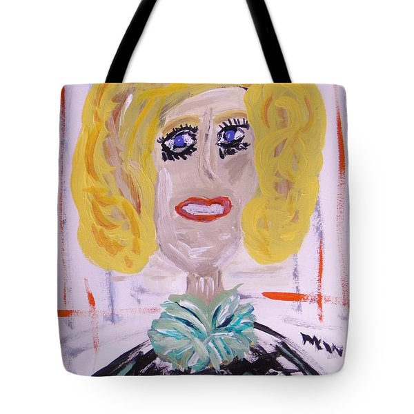 Tote Bag featuring the painting Brash Blond by Mary Carol Williams