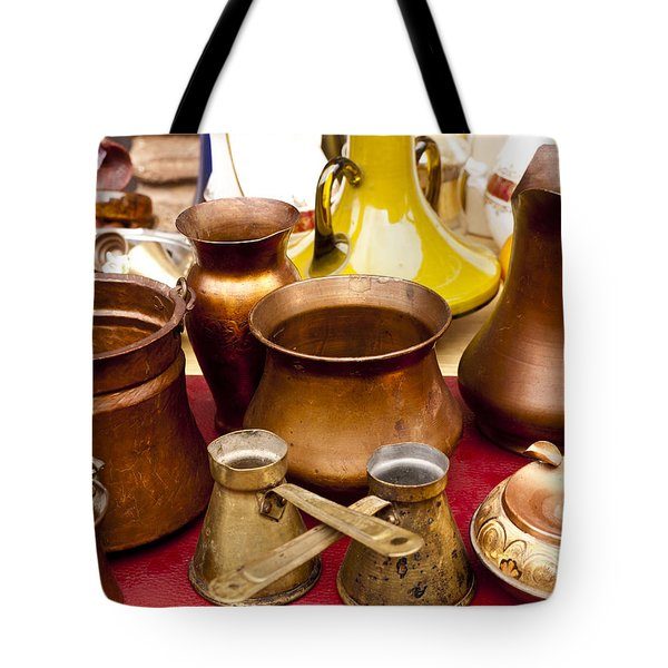 Brass Antiques Tote Bag by Rae Tucker