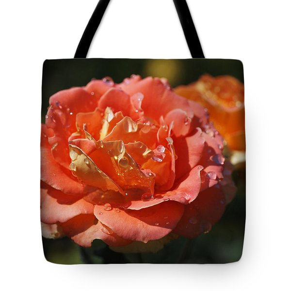 Brass Band Roses Tote Bag by Rona Black