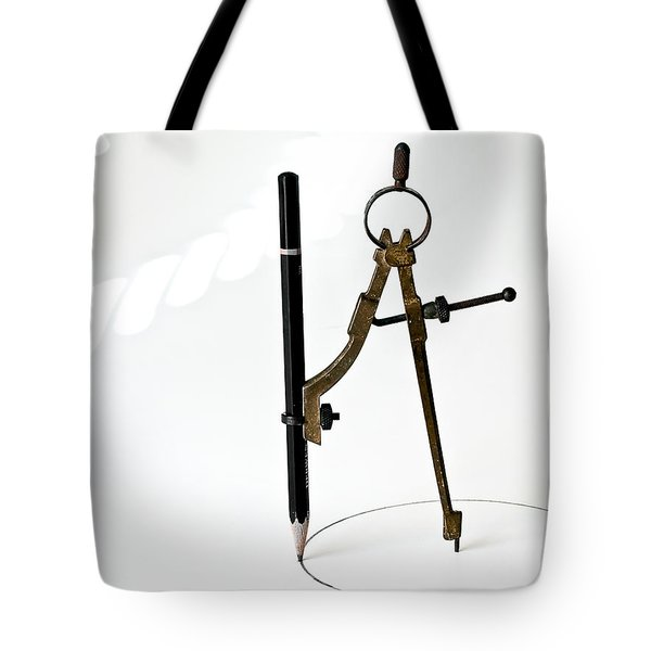 Brass Compass And Pencil Tote Bag