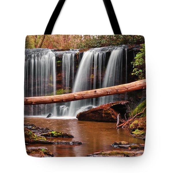 Brasstown Falls 002 Tote Bag