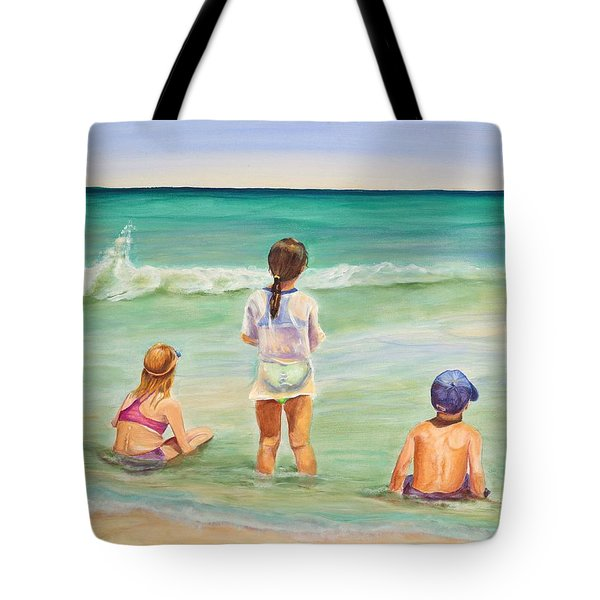 Tote Bag featuring the painting Brats by Patricia Piffath