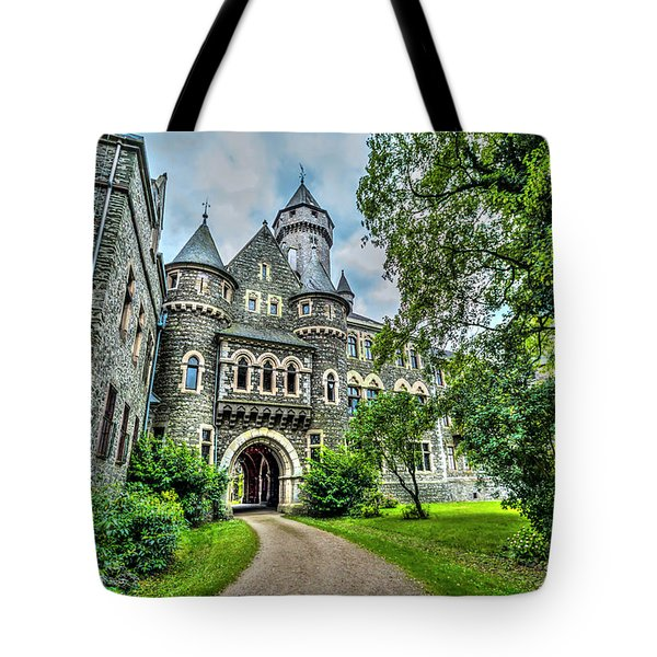 Tote Bag featuring the photograph Braunfels Castle by David Morefield
