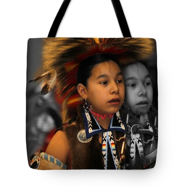 Brave And His Shadow Tote Bag by Audrey Robillard
