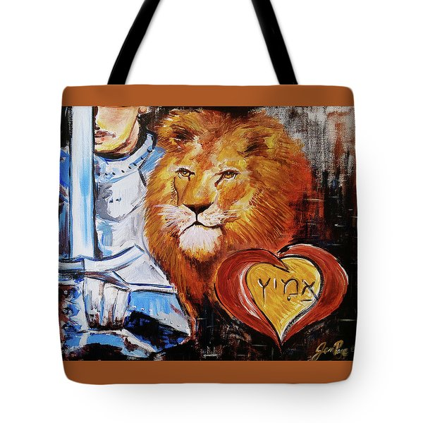 Tote Bag featuring the painting Brave Heart by Jennifer Page