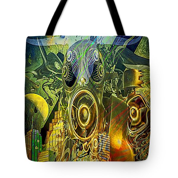 Tote Bag featuring the digital art Brave New World by Eleni Mac Synodinos