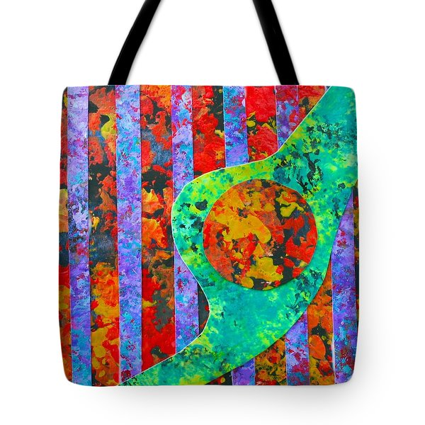 Tote Bag featuring the painting Brave New World by Polly Castor