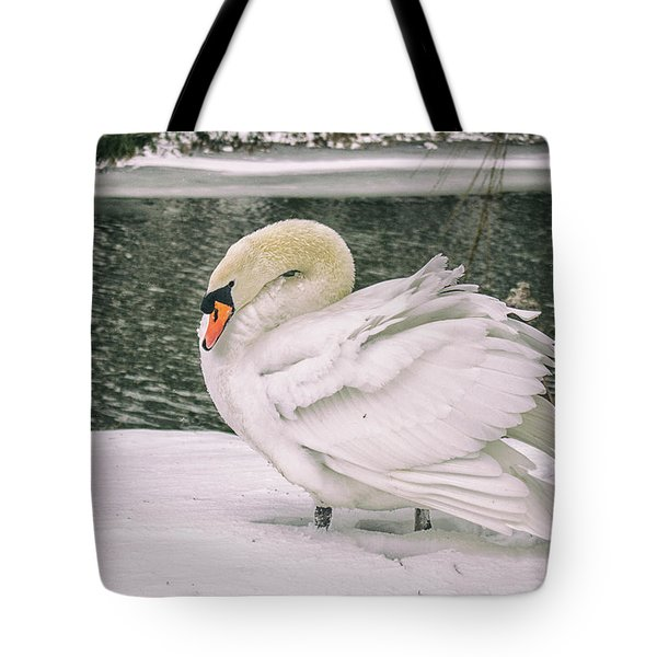Braving The Cold Tote Bag