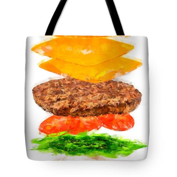 Brazilian Salad Cheeseburger Tote Bag