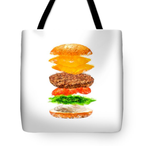 Brazilian Salad Cheeseburger Tote Bag