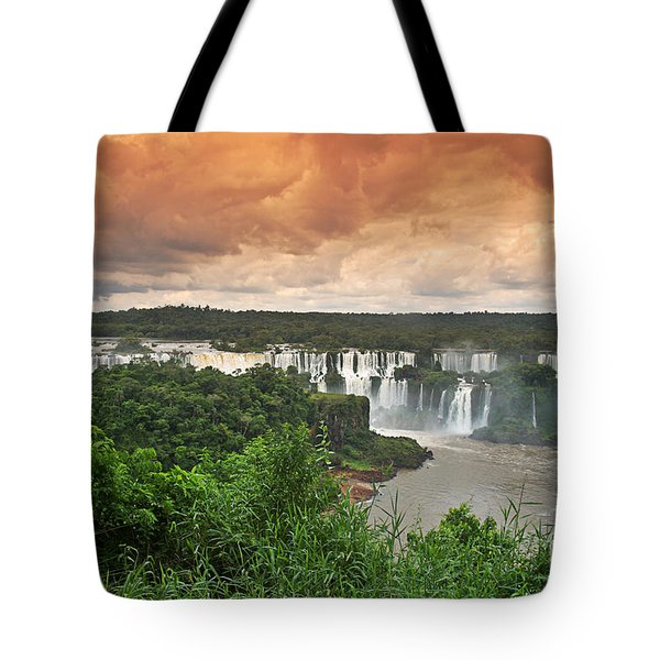 Tote Bag featuring the photograph Brazil,iguazu Falls,spectacular View by Juergen Held