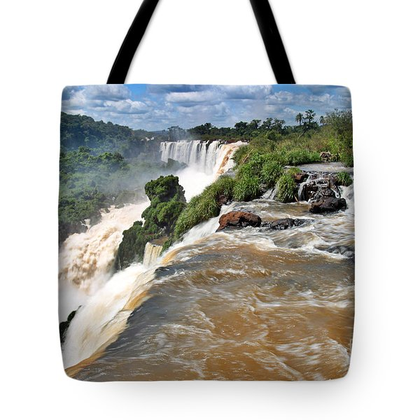 Tote Bag featuring the photograph Brazil,iguazu Falls, by Juergen Held