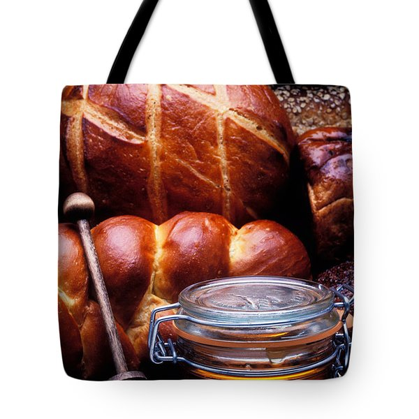 Bread And Honey Tote Bag by Garry Gay