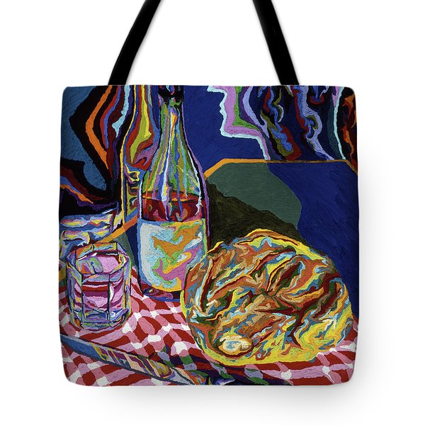 Bread And Wine Of Life Tote Bag by Robert SORENSEN