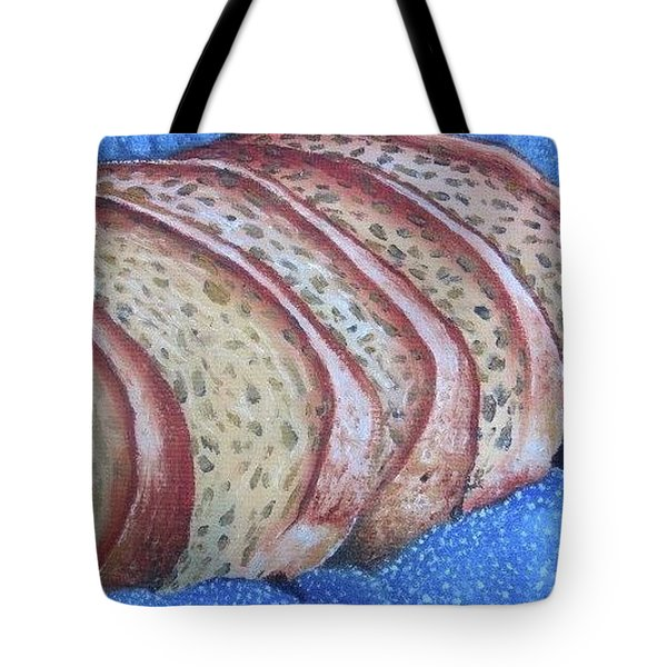 Tote Bag featuring the painting Bread Basket by Mary Ellen Frazee