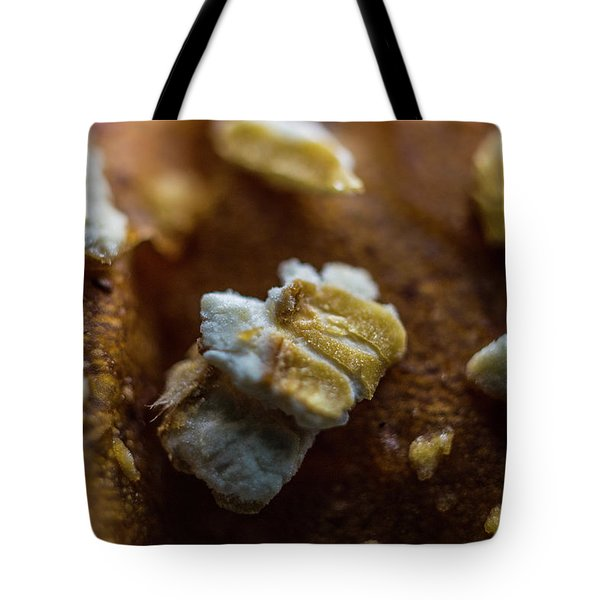 Tote Bag featuring the photograph Bread Macro Food by David Haskett