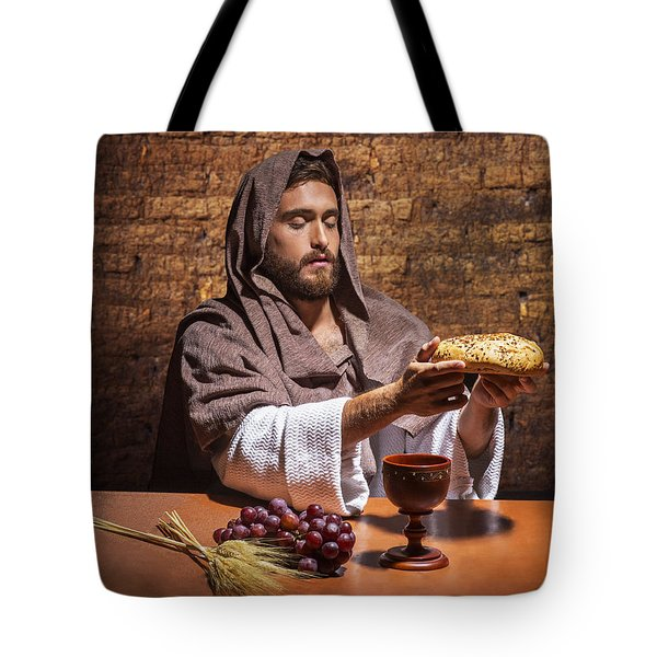 Tote Bag featuring the painting Bread Of Life by Karen Showell