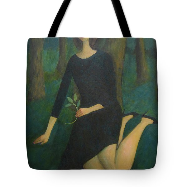 Tote Bag featuring the painting Break In The Evening by Glenn Quist