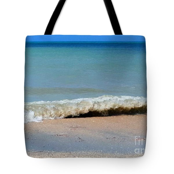 Break In The Sand Tote Bag by Jeanne Forsythe