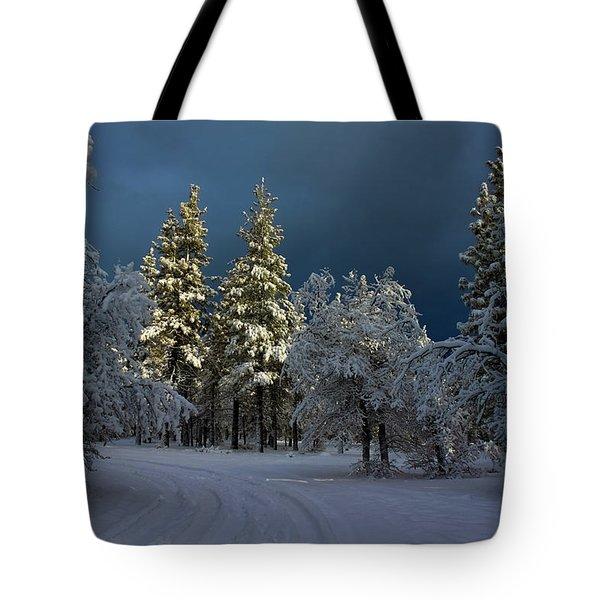 Break In The Storm Tote Bag by James Eddy
