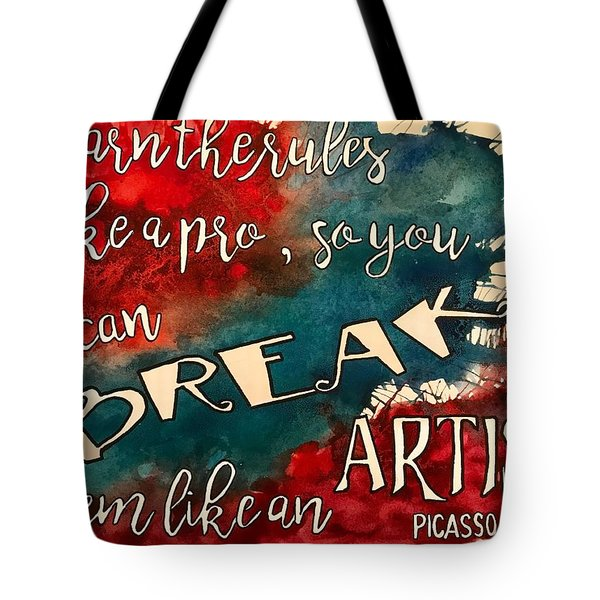 Break The Rules Tote Bag