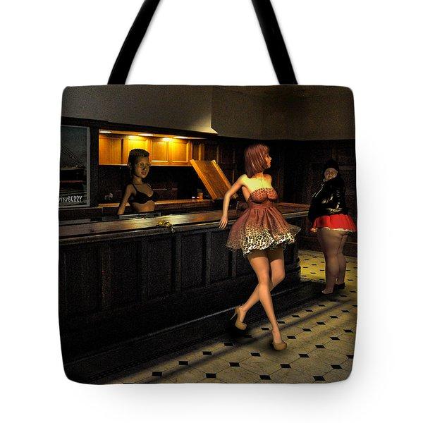 Breaker Bar Girls Tote Bag by Bob Winberry