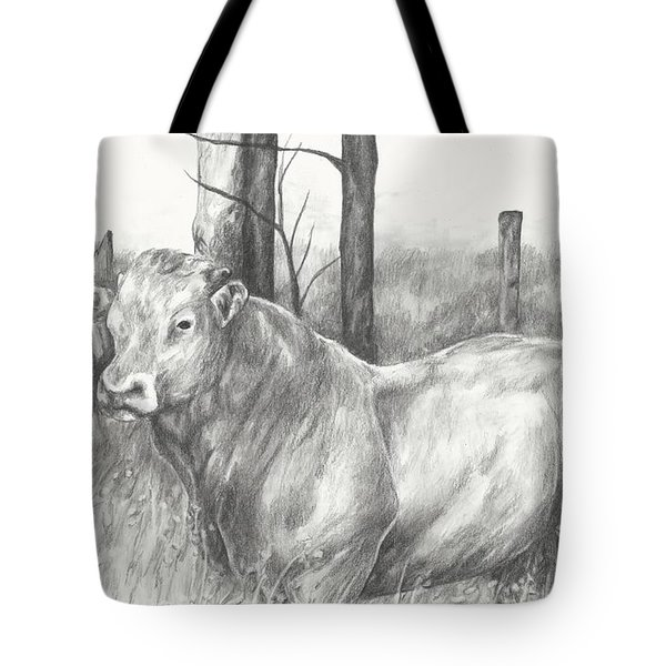 Tote Bag featuring the drawing Breaker Study by Meagan  Visser