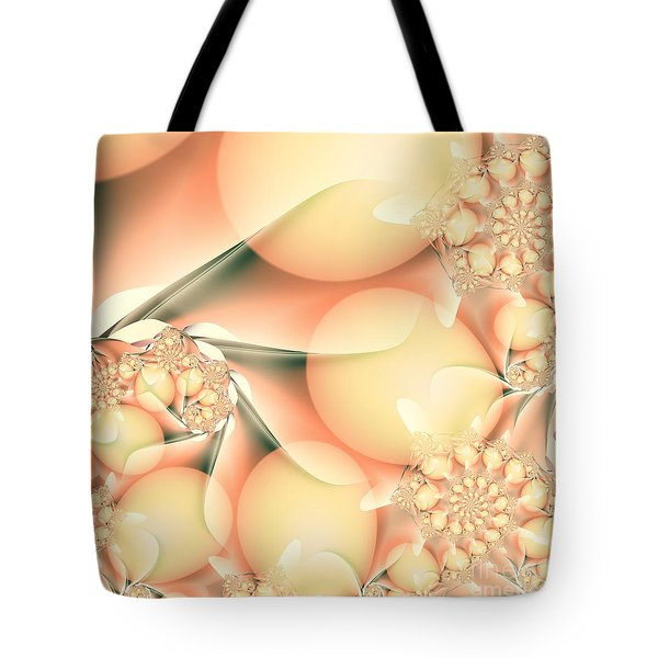 Tote Bag featuring the digital art Breakfast At Mandy's by Michelle H