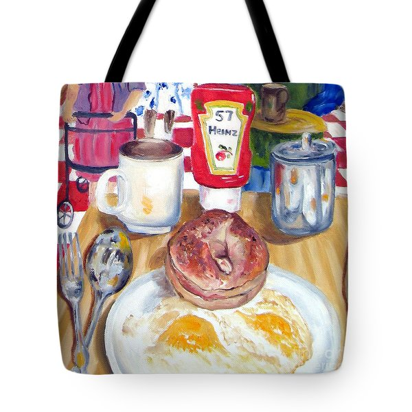 Breakfast At The Deli Tote Bag