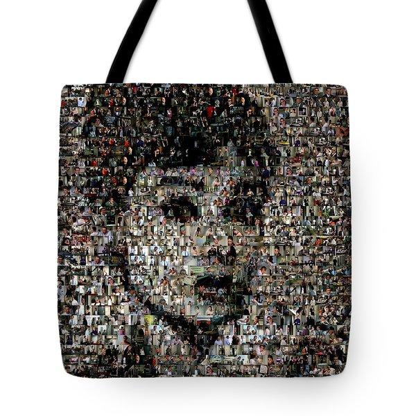 Breakfast At Tiffany's Mosaic Tote Bag by Paul Van Scott