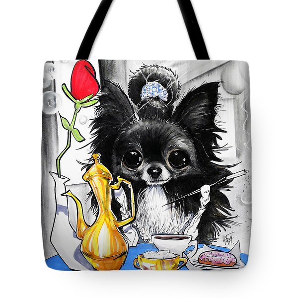 Breakfast At Tiffany's Papillon Caricature Art Print Tote Bag