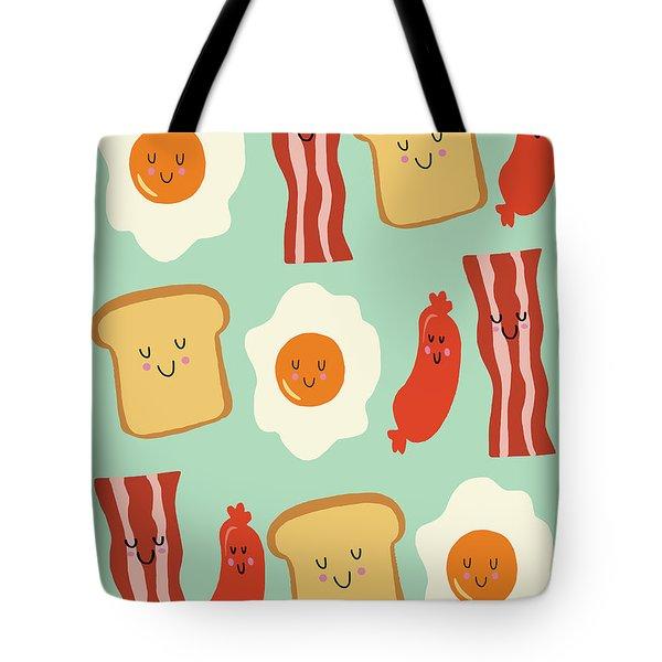 Breakfast Tote Bag by Nicole Wilson