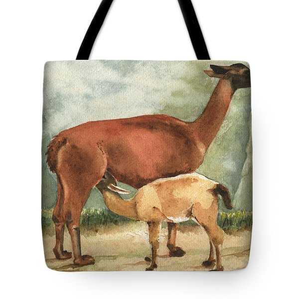 Breakfast On Machu Picchu Tote Bag by Marsha Elliott