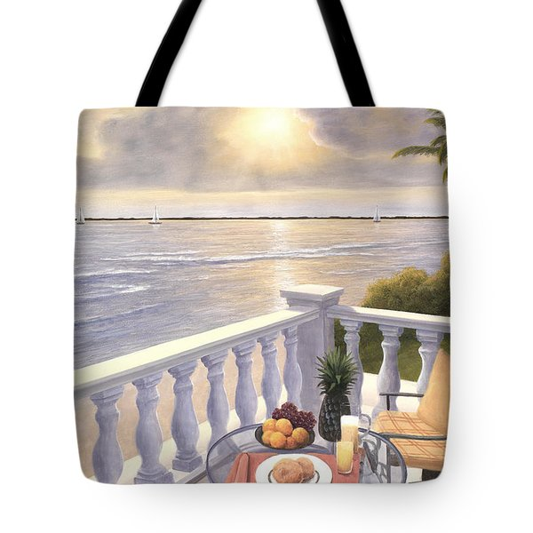 Breakfast On The Veranda Tote Bag