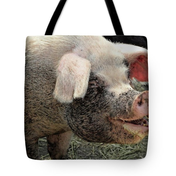 Breakfast With A Smile Tote Bag by Gordon Dean II